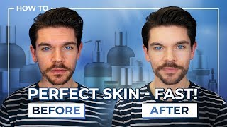 Best Products To FAKE Perfect Skin | Mens Skin Care