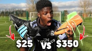 $25 FOOTBALL BOOTS VS $350 FOOTBALL BOOTS!! - What is the BEST? 😱⚽