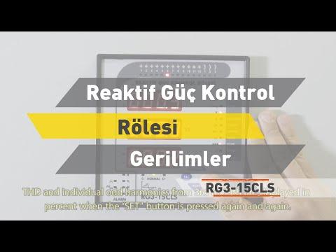 RG3- 15 CLS Reaktif Güç Kontrol Rölesi - Gerilimler