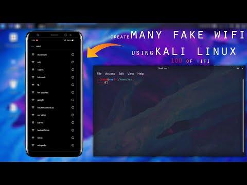 Create many fake WiFi on Kali Linux | Confuse WiFi users around you | Hundreds of fake wifi