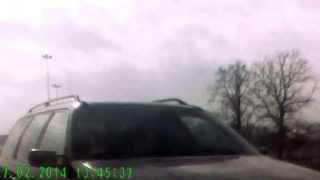 preview picture of video 'Bielsko-Biała Auchan - Wyjazd pod prąd + Nieustąpienie pierwszeństwa'