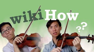 Classical Violinists Learn the Violin with WIKIHOW
