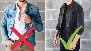 10 Golden Rules Of Denim Jackets