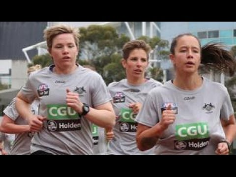 Pies women hit the track