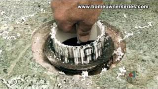 How To Fix A Toilet - Cement Sub-Flooring Repairs - Part 2 Of 2