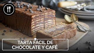 Tarta FÁCIL de CAFÉ y CHOCOLATE, la receta que querrás hacer una y otra vez