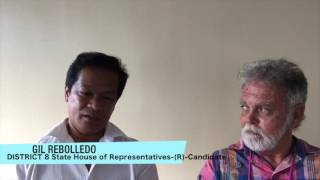 GIL REBELLEDO, Maui, Hawaii  candidate for Hawaii State House District 8 seat, was interviewed by Jason Schwartz, June 2016