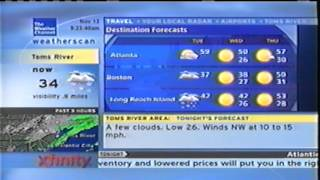 Weatherscan 111213: NJ's First Snow Of The Season. VHS TAPE