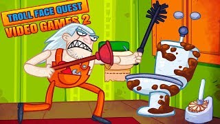 LEVEL 999 PLUMBER! Troll all MODERN video GAMES in Troll Face Quest Video Games 2