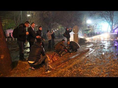 Видео последствий взрыва в Анкаре