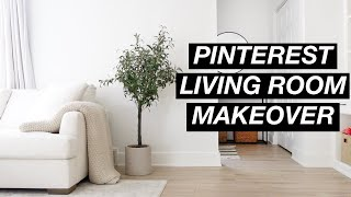 FIXER UPPER: Pinterest Living Room Transformation! Shocking reveal