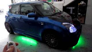 Multi colour Undercarriage LED lights with remote control