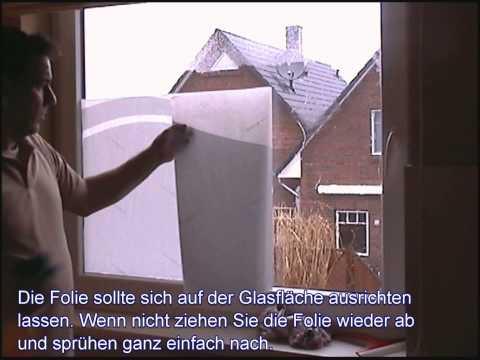 Montageanleitung Fensterfolie im Bad,WC oder Büro als Sichtschutz