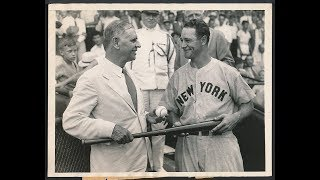 Lou Gehrig And Jimmie Foxx Vs Carl Hubbell 1934 All Star Game