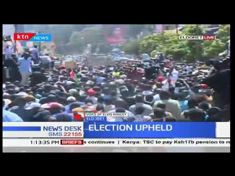 Eldoret residents react to the re-election of Uhuru Kenyatta