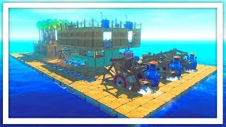 I Built The Perfect Biofuel Powered Steam Ship in Raft: The First Chapter