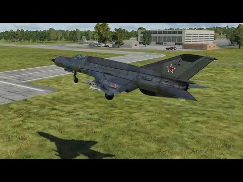 DCS World: MIG 21 bis Takeoff, Performance and Landing
