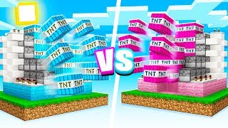 MINECRAFT Boy vs Girl TNT WARS Challenge!