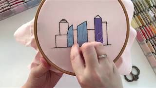 How To Embroider Long Satin Stitch. Hand Embroidery Stitches: Satin And Split Stitch