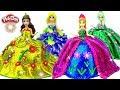 Learn how to make Play Doh Fashion Glitter Dresses for Anna Elsa Magic Clip Dolls