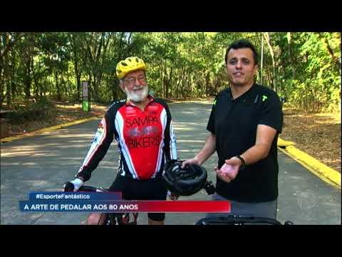 Reportagem Esporte Fantástico - Pintor mostra aos 80 anos que a arte de pedalar não tem idade