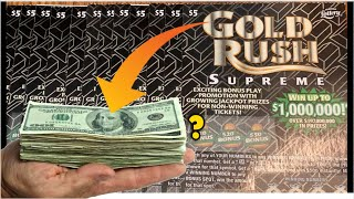 $1 MILLION PRIZE GOLD RUSH SUPREME SCRATCH OFF TICKETS - FLORIDA LOTTERY