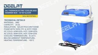 24L Thermoelectric Cooler and Warmer Box - 40*30*42.5cm