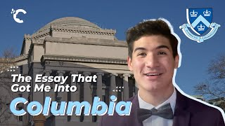 youtube video thumbnail - The Essay That Got Me Into Columbia