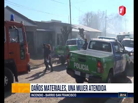 Incendio de una vivienda en Junín