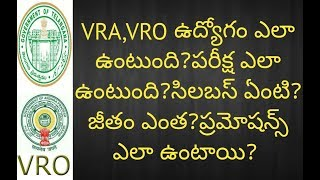 VRO,VRA (Salary,Work,Syllabus,Exam Pattern) Details | VRO,VRA Job Profile