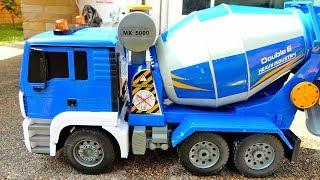 믹서 트럭 포크레인 중장비 자동차 장난감 모래놀이 Truck Car Toy Video for Kids