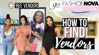 HOW TO FIND VENDORS FOR YOUR BOUTIQUE | FREE WAYS TO FIND POPULAR VENDORS