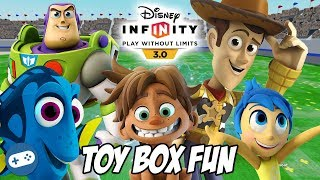 Pixar Disney Infinity 3.0 Toy Box Fun Gameplay