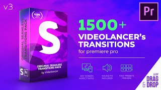 Seamless Transitions for Premiere Pro V3 - by Videolancer