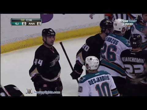 Sheldon Souray vs. Andrew Desjardins
