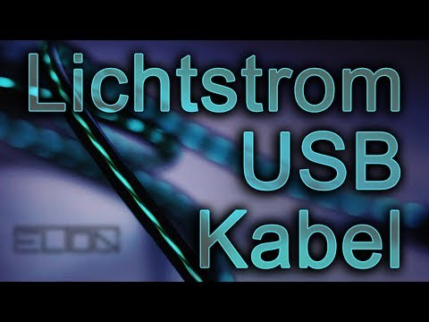 USB LED Ladekabel | Micro USB Lightning Cable | Lichtstrom Handy Kabel