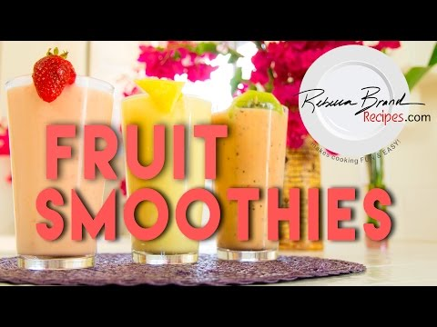 Video Healthy Fresh Fruit Smoothie Recipes Strawberry - Banana, and More