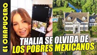 Thalia ataca a AMLO desde su mansión en Beverly Hills. Redes no la perdonan