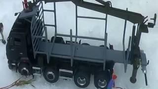 КАМАЗ-6540 от AVD конверсия с надстройкой сортиментовоза и КМУ от Max-models 1:43