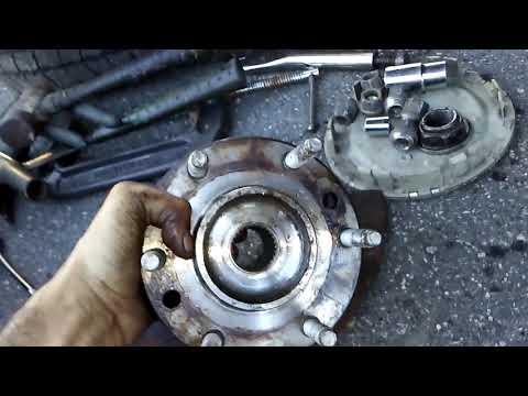 2004 Buick Rainier Front wheel bearing / hub replacement