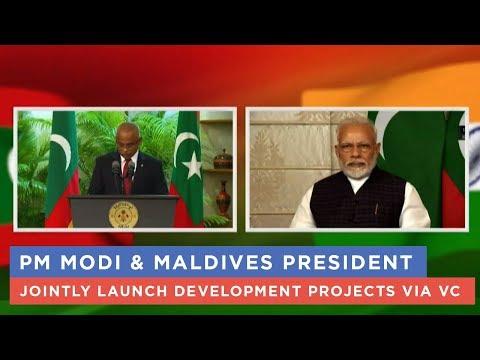 PM Modi & Maldives President jointly launch development projects via VC