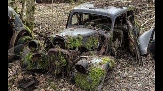 Парни поднимают ГАЗ-М1«Эмку» из леса. Поездка в Retro Studio Holmgard