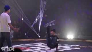 SHIGEKIX vs TAKUMI  Kids Allstyles Final DANCE@LIVE Japan 2015   YAK BATTLES