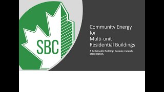 Community Energy for Multi-unit Residential Buildings