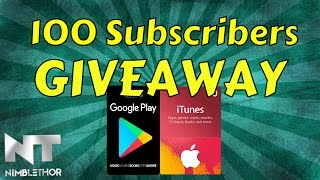 100 Subscriber Gift Card GIVEAWAY!