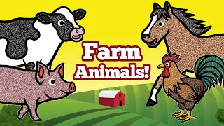 Learn Farm Animals Names and Sounds for Kids | Domestic Animals Matching Game