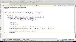 Java - Declaring Char Arrays  | Arrays in Java