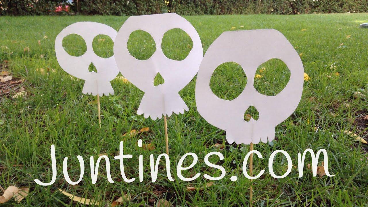Manualidades de halloween para niños: Calavera de papel