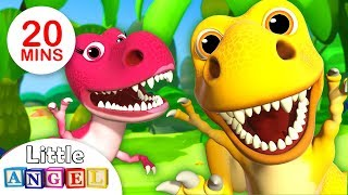 We are the Dinosaurs, Dinosaur Dance & more Fun Kid Songs and Nursery Rhymes by Little Angel