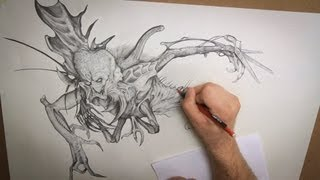 Monster Drawing Techniques - Stan Winston Creatures - PREVIEW